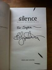 Silence,1st Edition, Signed With Inscription By Becca Fitzpatrick.