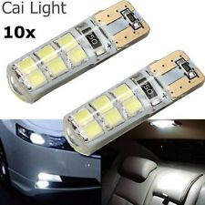 10x T10 194 W5W COB 2835 SMD 12LED Car CANBUS Error Free License Light Bulb 2W