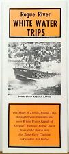 1970's Rogue River Oregon White Water Trips vintage travel brochure b