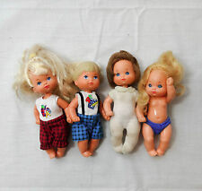 "Mattel 70's Lot of 4 Heart Family dolls Children 4"" to 5"" Original Clothing"