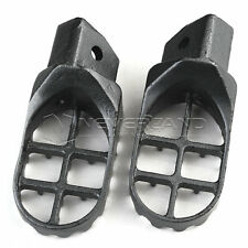 Wide Fat Footrests Footpegs Race Ride Offroad Foot Pegs For Suzuki RM 80 93-01