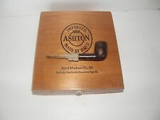 VINTAGE ASHTON WOODEN CIGAR BOX- AND V.F.O. COLLECTOR  SMOKING PIPE