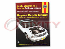 Pontiac Bonneville Haynes Repair Manual SE Base SLE SSE SSEi GXP Shop hl
