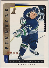 1996-97 PINNACLE BE A PLAYER AUTO: SAMI KAPANEN #145 ON CARD AUTOGRAPH WHALERS