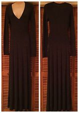 NWOT BCBG MAX AZRIA  LONG SLEEVE V-NECK MAXI SWEATER DRESS sz M