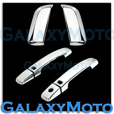 Chrome Trim Bezel 4 Door Handle+Smart Keyhole Cover for 05-12 Nissan PATHFINDER