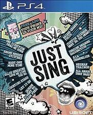 NEW Just Sing (Sony PlayStation 4, 2016) - Brand New Factory Sealed in Plastic