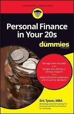 Personal Finance in Your 20s for Dummies by Eric Tyson (2016, Paperback)