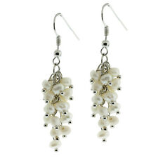 "2"" White Cultured Freshwater Pearl Dangle Earrings 2 Inch"