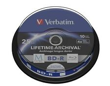 Verbatim M-Disc 25GB BD-R 4x Spindle (10 Pack)
