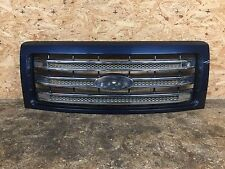 09 13 14 FORD F150 F 150 LARIAT FRONT RADIATOR GRILL GRILLE MESH CENTER OEM