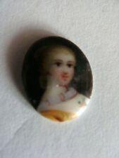 Altes Porzellan    Mädchenbildnis  für Medaillions oder Anhänger 5