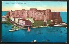 Napoli : S. Lucia e Castel dell'Ovo - cartolina viaggiata nel 1933