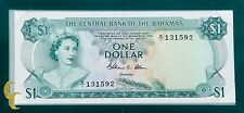 1974 $1 The Central Bank of Bahamas UNC Condition  Banknotes of all Nations