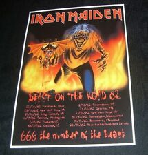 Iron Maiden Concert Poster Beast On The Road Tour '82 A3 Size repro