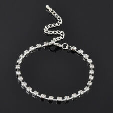 Women Hot Silver Plated Crystal Anklet Bracelet Adjustable Bracelet Chain Ankle