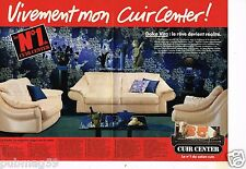 Publicité advertising 1990 (2 pages) Meubles canapé cuir Cuir Center