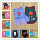 Small Dog Cat Pet Love Mum Various Clothes Pupply Vest Lace Dress Shirt Apparel
