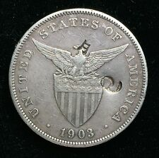1903p Peso US-Philippines  Silver Coin w/ Chinese Chopmarks - lot#1