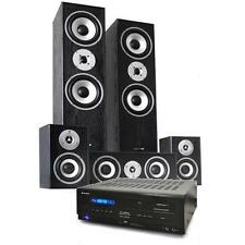 NEW 5.1 HOME THEATRE HIFI SURROUND SOUND SYSTEM 5 SPEAKERS + 5.1 AMPLIFIER