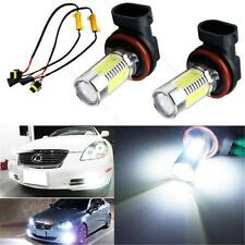 2pcs HID White H11 H8 CREE COB LED Bulbs Fog Lights + Canbus Decoders Error Free