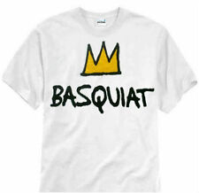 NEW!! Jean Michel Basquiat crown T shirt (L) - andy warhol 100% Cotton Graphic T