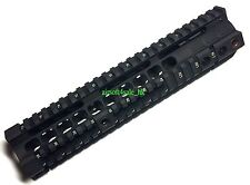 10 inch M4 16 N Free Float Aluminum Handguard RIS RAS Rail For Airsoft (Black)