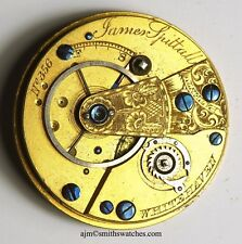 JAMES SPITTALL WHITEHAVEN PATENT LEVER FUSEE ENGLISH POCKET WATCH MOVEMENT  TT45