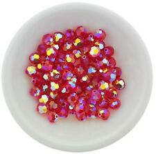 Swarovski Crystal 5000 6mm Round Beads - LIGHT SIAM AB2X (12 PCS)