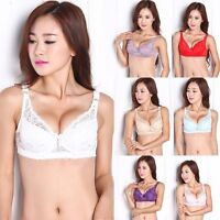 Women Deep-V Push Up Side Support Lace Ultra Thin Padded Bra Lift Up Brassiere