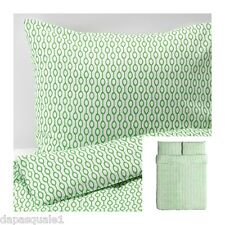 IKEA RODVED - Duvet Cover and 2 (two) Pillowcases Full/Queen White Green