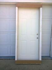 """BRAND NEW:  32""""x80""""  STEEL Exterior DOOR  & Wood Frame"""
