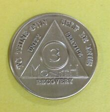 Vintage 3 month brass token! To Thine own self be true! 34 mm, 12.8 grams!