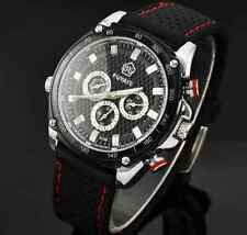 new Fuyate Mens Sports Watch Black silicone band analog men Mechanical Automatic