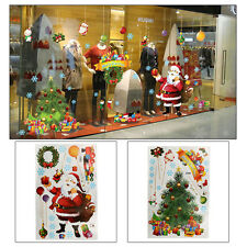 2pcs Santa Claus Christmas Wall Stickers Decal Removable Art Window Shop Decor