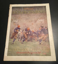 1927 MICHIGAN ILLINOIS COLLEGE FOOTBALL GAME PROGRAM WOLVERINES ILLINI