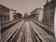 ORIG 1915 New York City NYC 8 x 10 El Subway 156 St Station Photo
