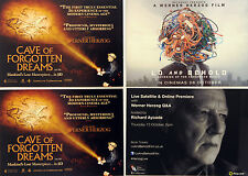 WERNER HERZOG FILM MOVIE POSTCARDS LO & BEHOLD & CAVE OF FORGOTTEN DREAMS