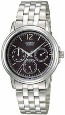 Casio MTP1174A-1A Men's Metal Band Multi Function Analog Black Dial Watch