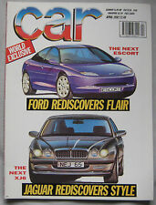 CAR 04/1992 featuring Aston Martin Virage,VW Golf GTi,Ford XR3i,Nissan Sunny GTi