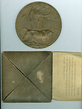 WW1 British 1915-1916 DEATH Plaque, Canadian Infantry, 15th Battalion w/Holder