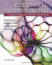 Essential Interviewing  9th Edition by David R. Evans (Paperback) BRAND NEW