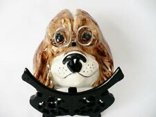 Vintage Babbacombe Pottery / Philip Laureston Spaniel String & Scissors Holder