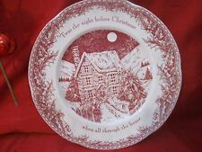 JOHNSON BROTHERS TWAS THE NIGHT BEFORE CHRISTMAS HOLIDAY DINNER PLATENEW TAG
