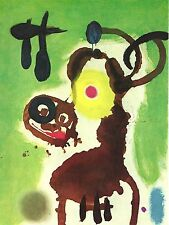 JOAN MIRO, WOMAN AND BIRD,1959 OFFSET LITHOGRAPH UNSIGNED