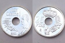 25 Pesetas 2001 Plata Silver Moneda FDC España Ultima Edicion Peseta Leer!! SC