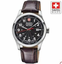 Wenger Swiss Military Alpine Terragraph 79303C 79303 Leather Men's Watch 793ox