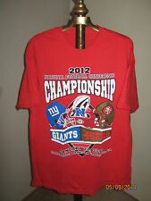 SF 49ers vs. NY Giants Tee Red NFL 1/22/2012 NFC Conference Game (LARGE) Rare!