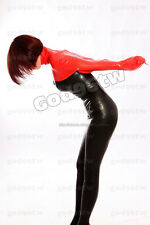 100% Latex Rubber Gummi Arm Suit 0.8mm Catsuit Top Jacket Wear Heavy Unique Hot