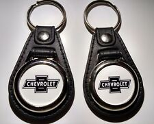 CHEVROLET 2 PACK OF Keychains FOB LOGO BLACK CLASSIC